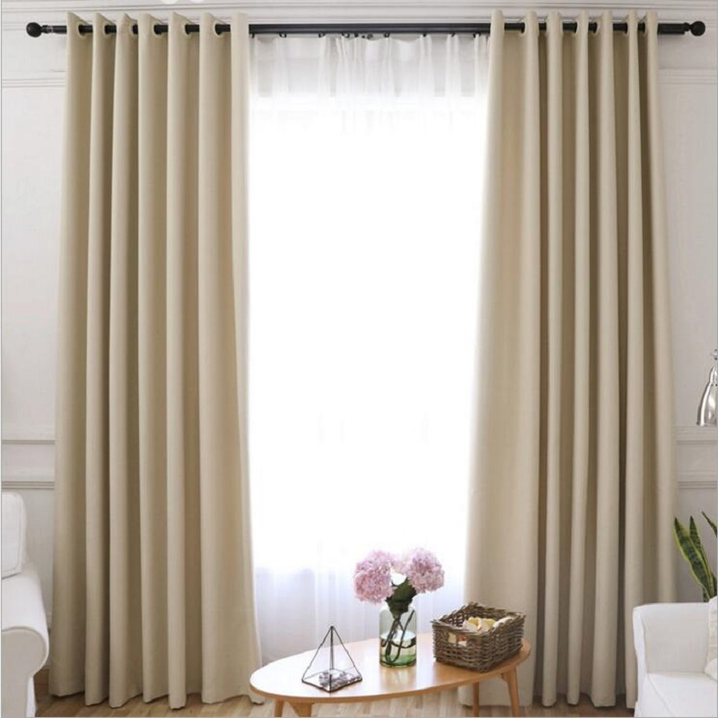 Blackout Curtains For The Bedroom Solid Colors Living Room Window Greey Gold Blinds Customized S285 30