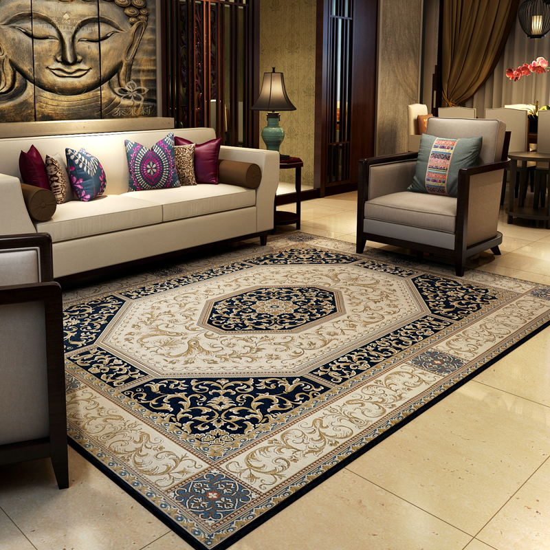 140X200CM Vintage Chinese Carpets For Living Room European Coffee Table  Rugs And Carpet Bedroom Area Rug/Floor Mat Chinese Style
