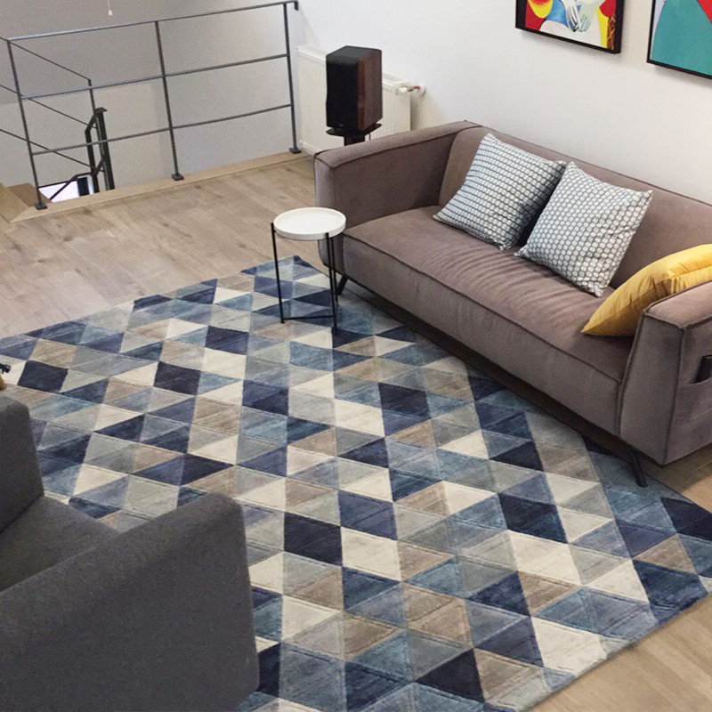 Nordic Style Simple Soft Polyester Carpets For Living Room Bedroom