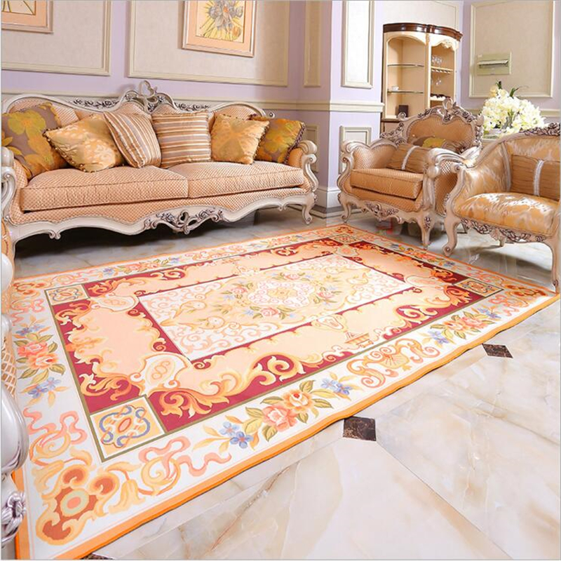 Royal European Style Fashion Soft Carpets For Living Room Bedroom