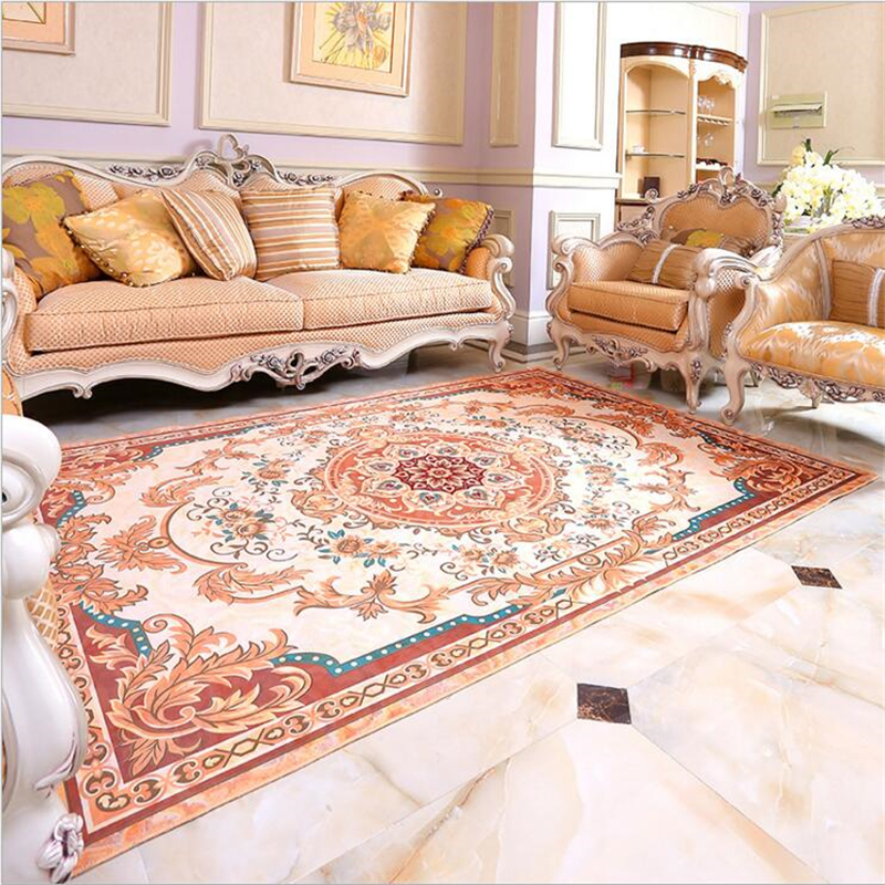 Royal European Style Fashion Soft Carpets For Living Room Bedroom Kid Rugs Area Rug Home Carpet Floor Door Mat Delicate