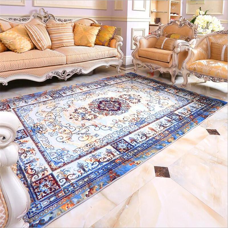 Royal European Style Fashion Soft Carpets For Living Room Bedroom Kid Room Rugs Area Rug Home Carpet Floor Door Mat Delicate Mat
